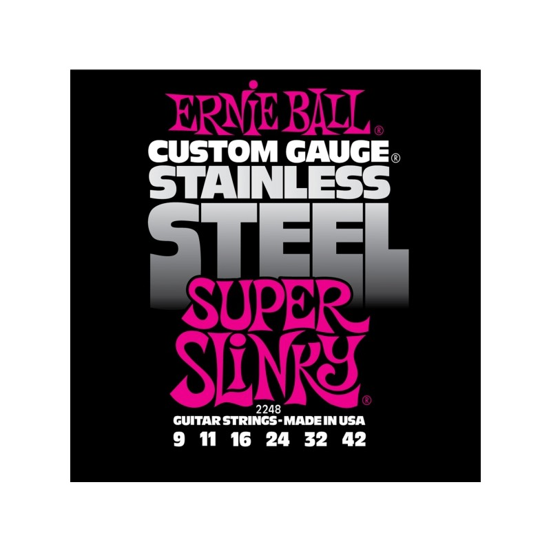 Cuerdas Eléctrica Ernie Ball 2248 Stainless 09-42