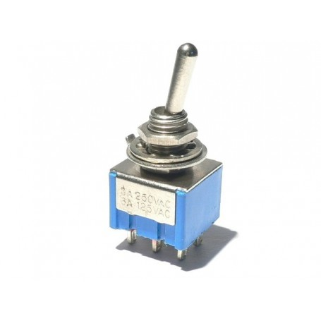 Selector Mini Toggle Switch DPDT 2 posiciones