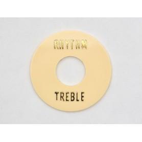 Placa de selector Rhythm & Treble Crema-Dorado
