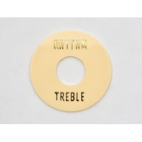 Rhythm & Treble Selector plate Gold Cream