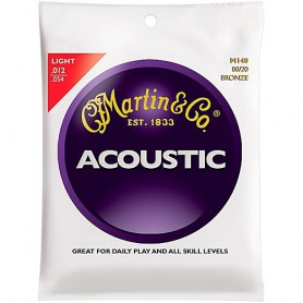 Martin M140 80/20 Light Bronze Acoustic Strings 12-54