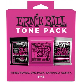 Cuerdas Ernie Ball Electric Tone Pack 09-42