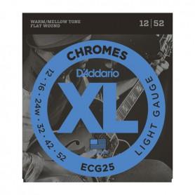 Cuerdas Eléctrica D´Addario Chromes ECG25 12-52 Flatwound