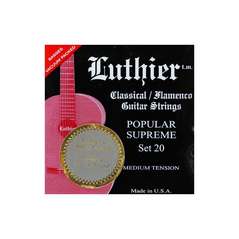 Cuerdas Clásica Luthier Set 30 Silver Concert Super Carbon