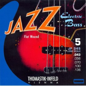 Cuerdas Bajo Thomastik Jazz JF345 Flatwound 43-136