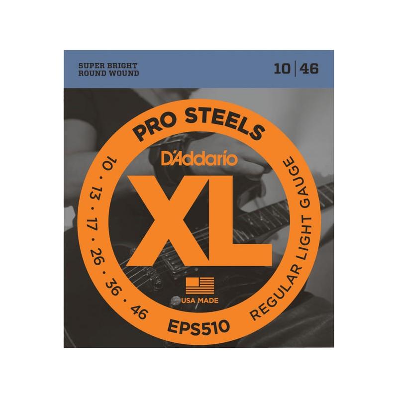 Cuerdas Eléctrica D´Addario EPS510 Pro Steels 10-46
