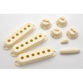 Set de Botones y Cubre Pastillas Strat Aged White