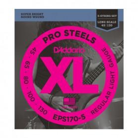Cuerdas Bajo D´Addario EPS170-5 Pro Steels 45-130