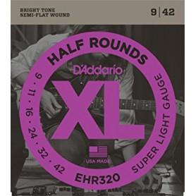 Cuerdas Eléctrica D´Addario EHR320 Half Rounds 09-42