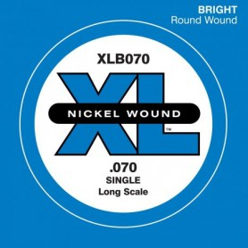 D'Addario Nickel Wound Single Bass String XLB050