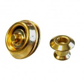 Dunlop Straplock Gold Dual Design