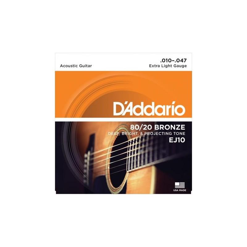Cuerdas_Acystica_DAddario_EJ10_Bronze_80-20_10-47_Extra_Light_