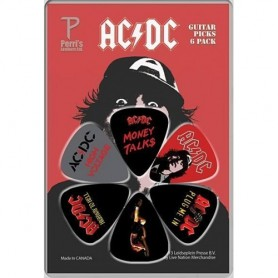 Perri's AC/DC 2 - 6 Pack Guitar Picks