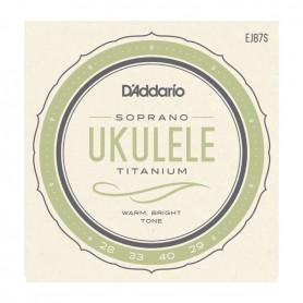 D´Addario EJ87S Titanium Soprano Ukulele Strings