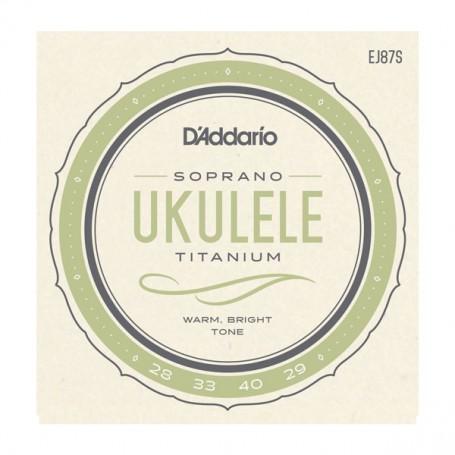Cuerdas Ukelele D´Addario EJ87S Titanium Soprano