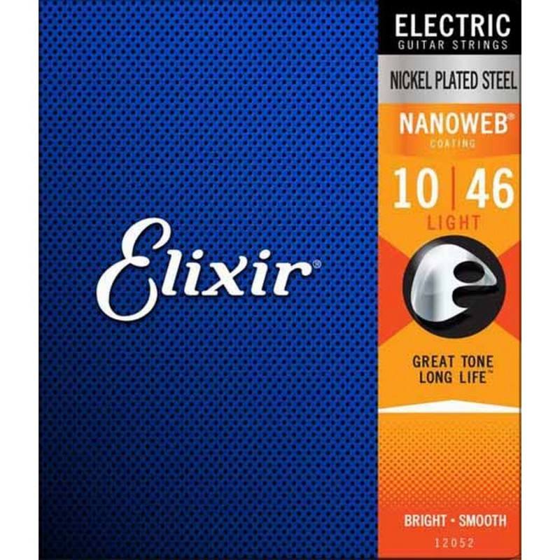 Cuerdas Eléctrica Elixir 12052 Nanoweb Light 10-46
