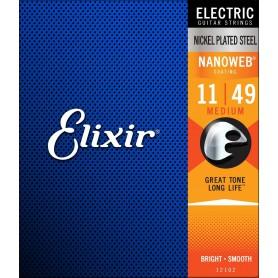 Cuerdas Eléctrica Elixir 12102 Nanoweb Medium 11-49