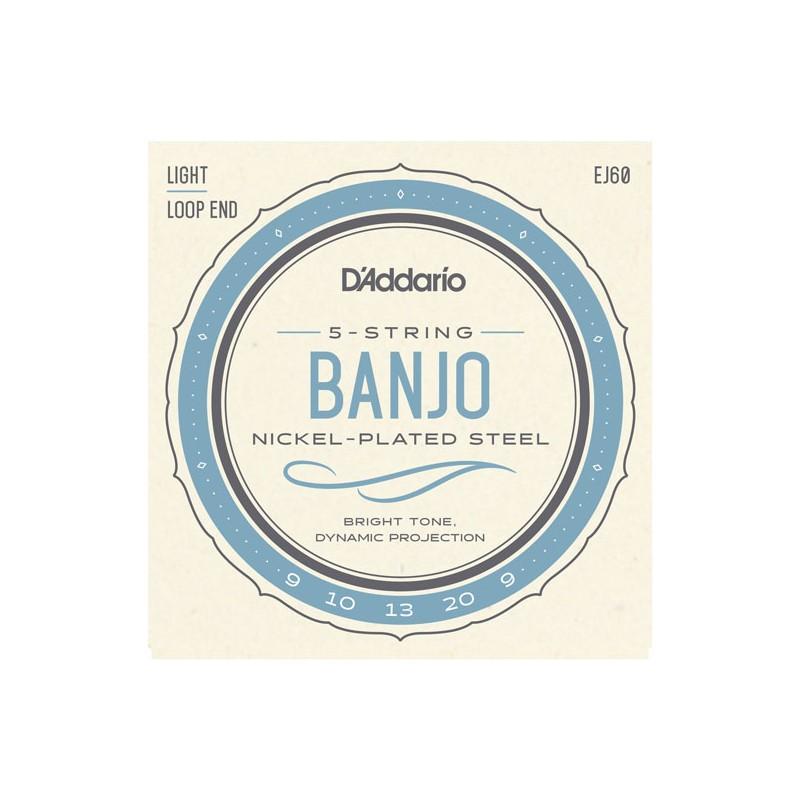 Cuerdas-Banjo-D´Addario-EJ60 Nickel Plated 09-20