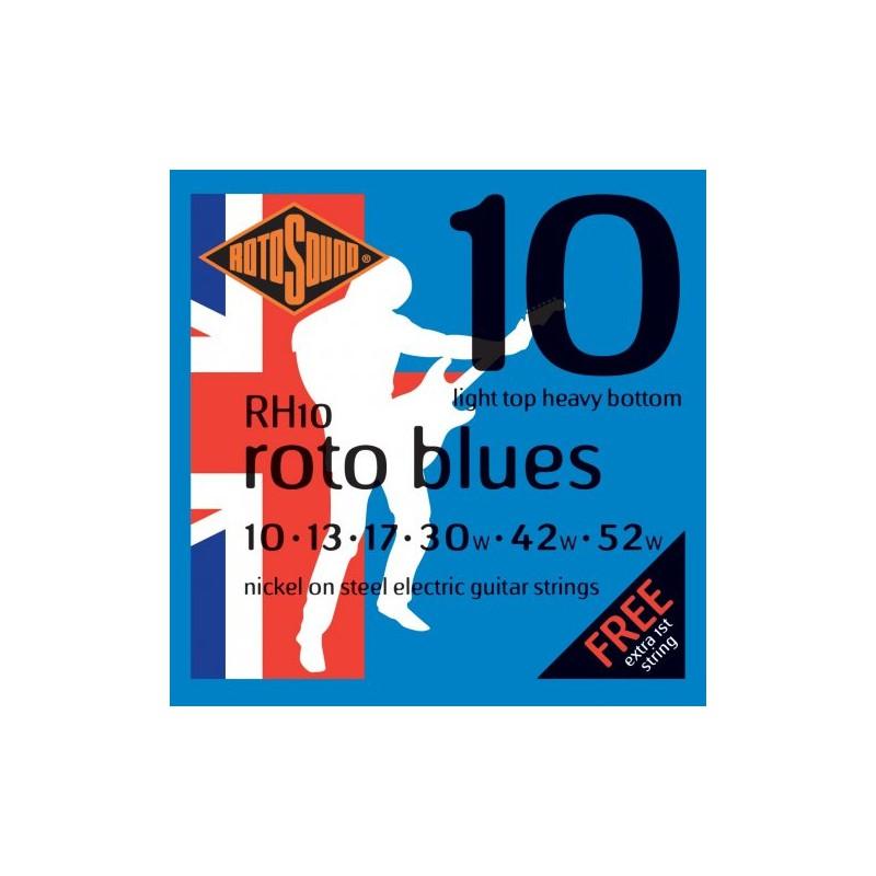 Cuerdas Eléctrica Rotosound Roto Blues 10-52-52
