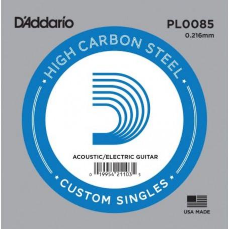 Cuerda suelta D´Addario PL0085 plana para eléctrica y acústica