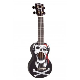 Ukelele Mahalo Soprano Art Series Pirate Black