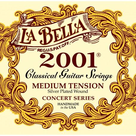 Cuerdas de Guitarra Clásica La Bella 2001 Concert Series Medium Tension