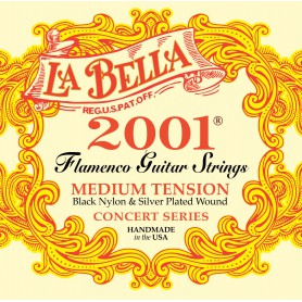 Cuerdas de Guitarra Clásica La Bella 2001 Flamenco Medium Tension