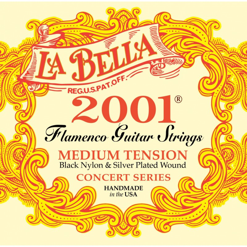 Cuerdas_Clasica_La_Bella_2001_Flamenco_Medium_Tension