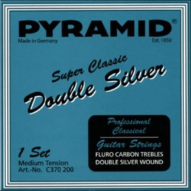 Pyramid Super Classic Double Silver Fluro Carbon Hard Tension Classical Guitar Strings