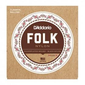 Cuerdas Clásica D´Addario Folk Nylon EJ32