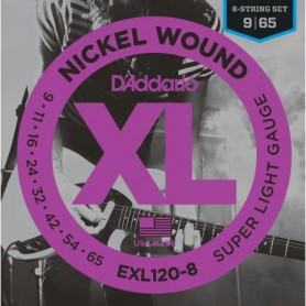 D´Addario EXL120-8 09-65 8 Strings Electric Set
