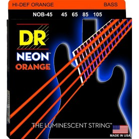 Cuerdas Bajo DR Strings Neon Orange 45-105