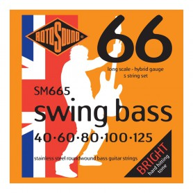 Rotosound Swing Bass SM665 40-125 5 Strings