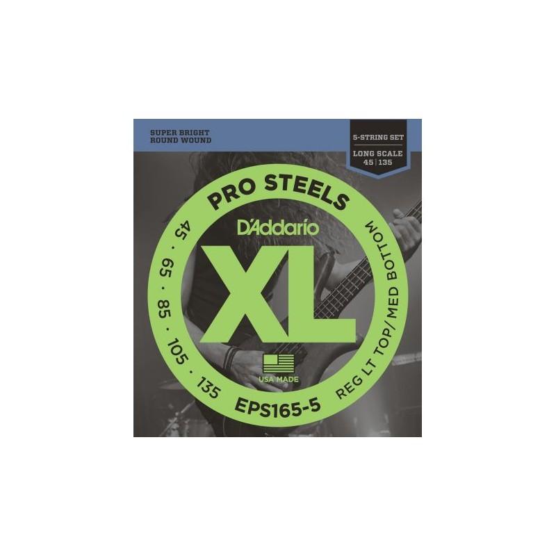 Cuerdas Bajo D´Addario EPS165 Pro Steels 45-105