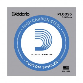 D'Addario Nickel Plain Electric/Acoustic Single String PL0095