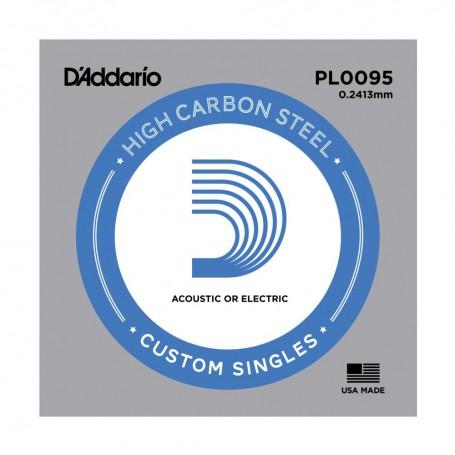 Cuerda suelta D´Addario PL0095 plana para eléctrica y acústica
