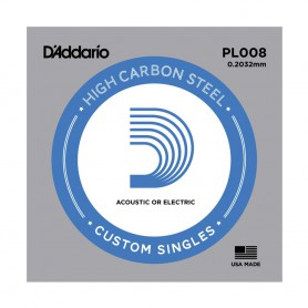 D'Addario Nickel Plain Electric/Acoustic Single String PL008