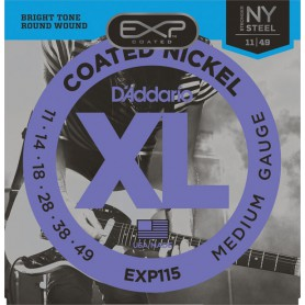 D´Addario EXP115 Coated Nickel Wound Light 11-49