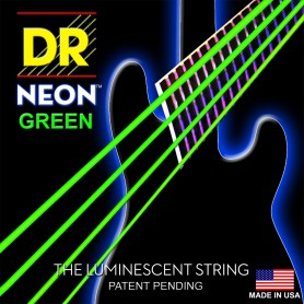 DR Neon Green Bass Strings 45-105