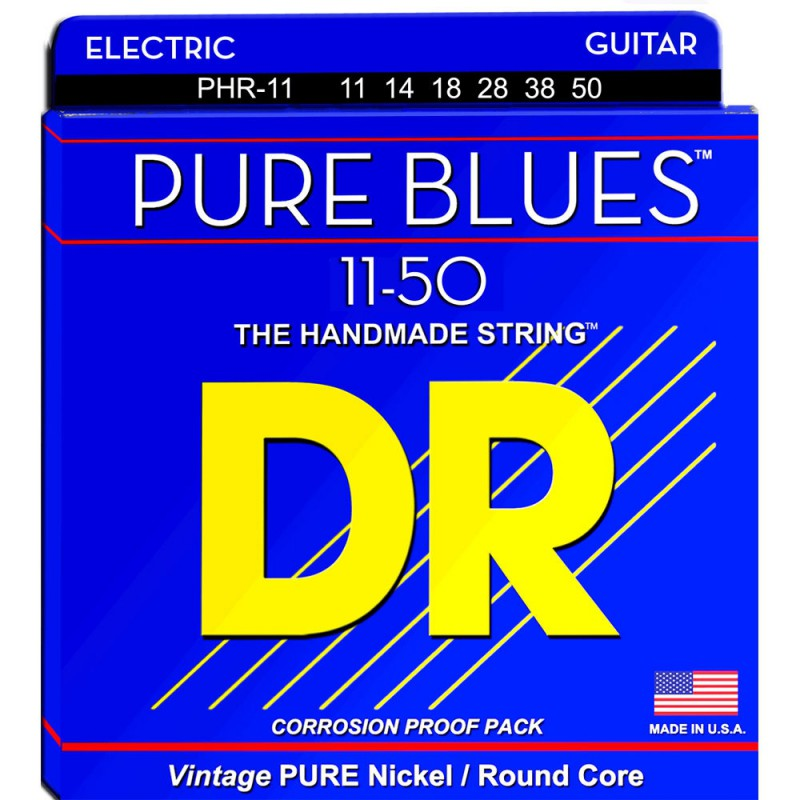 Cuerdas Eléctrica DR Strings Pure Blues PHR-11 11-50