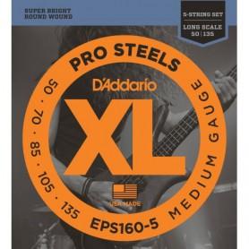 Cuerdas Bajo D´Addario EPS165-5 Pro Steels 45-135