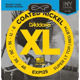 D´Addario EXP125 Coated Nickel Wound Light 09-46
