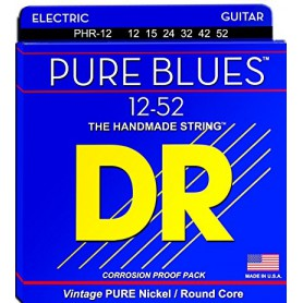 Pure Nickel Electric Guitar Strings wound on Round Cores 12-52