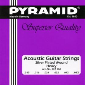 Cuerdas de Acústica Pyramid Silver Plated Wound Heavy 12-52