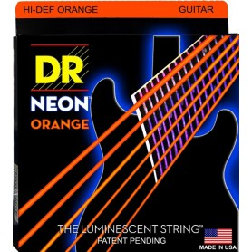 Cuerdas Eléctrica DR Strings Neon NOE-9 09-42 Orange