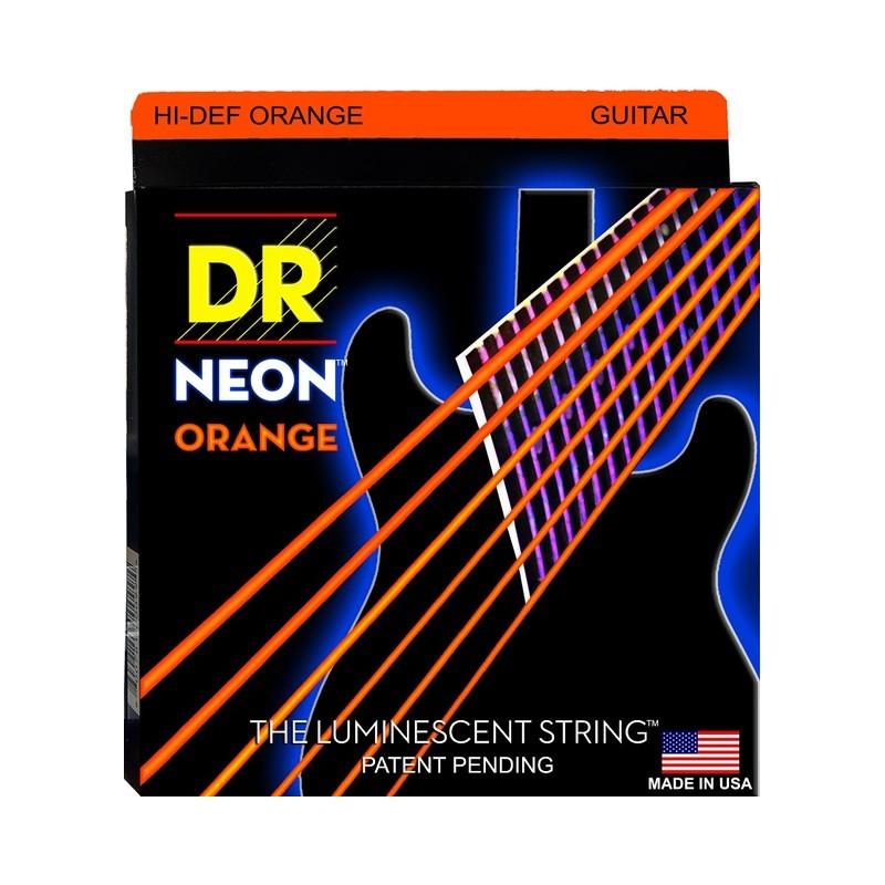 Cuerdas Eléctrica DR Strings Neon NOE-9 09-42 Orange