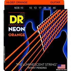 Cuerdas Eléctrica DR Strings NOE-10 Neon 10-46 Orange