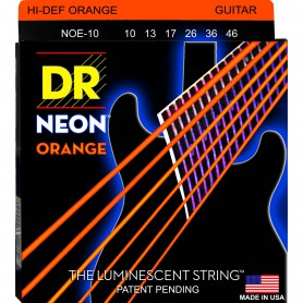 Cuerdas Eléctrica DR Strings NOE-10 Neon 10-46 Orange