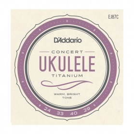 Cuerdas Ukelele D´Addario EJ87C Titanium Concert