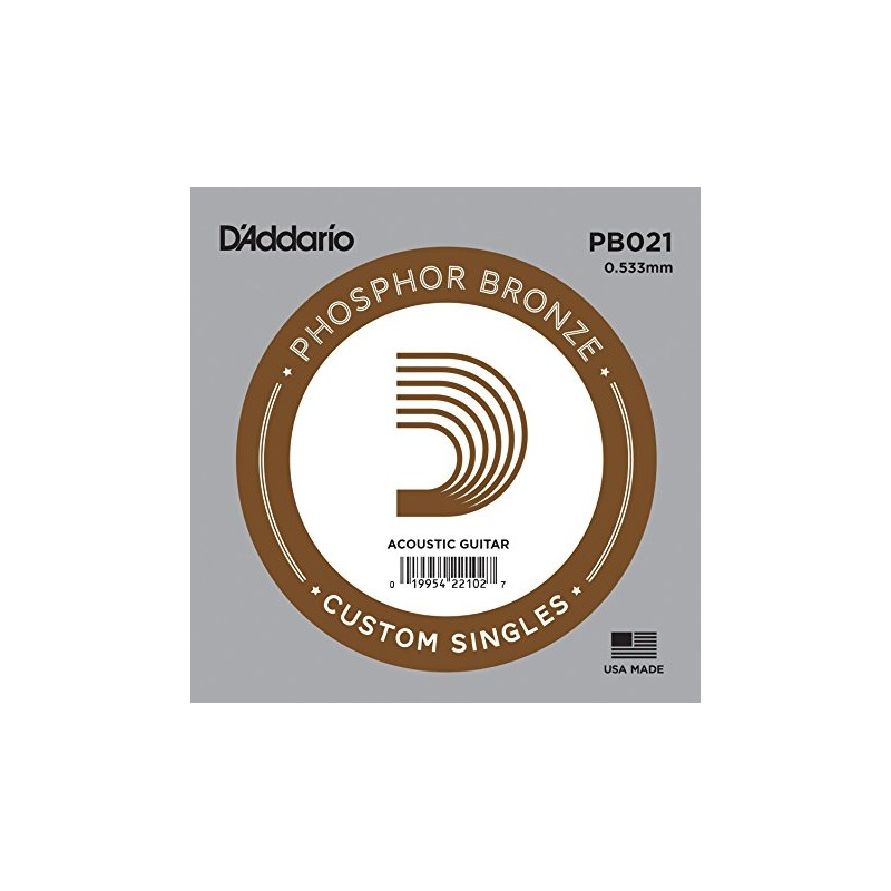 Cuerda suelta D´Addario PB021 acústica Phosphor Bronze